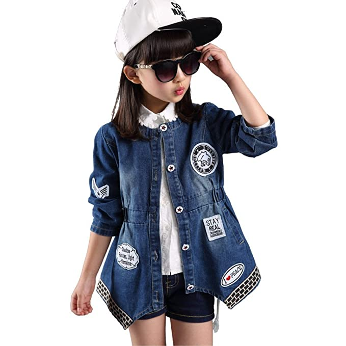 aa78201cf Niñas chaqueta denim Jean estrellas recubrimiento ropa abrigo de Cowboy:  Amazon.es: Ropa y accesorios