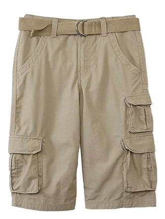 Amazon.com: Canyon River Blues Boys Khaki Tan Cargo Shorts ...