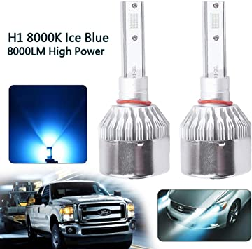 H1 LED Headlight Bulbs 55W 8000LM Kit High//Low Beam 8000K Ice Blue Plug And Play