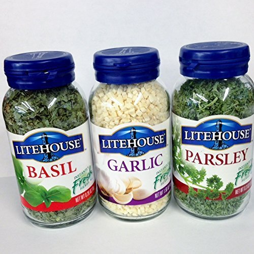 LiteHouse Freeze Dried Herb Variety - 1 Garlic, 1 Basil, And 1 Parsley