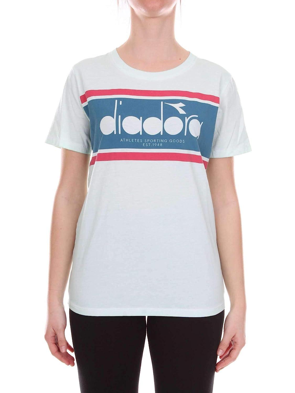 Diadora Women's 5021746730365141 Green Cotton TShirt