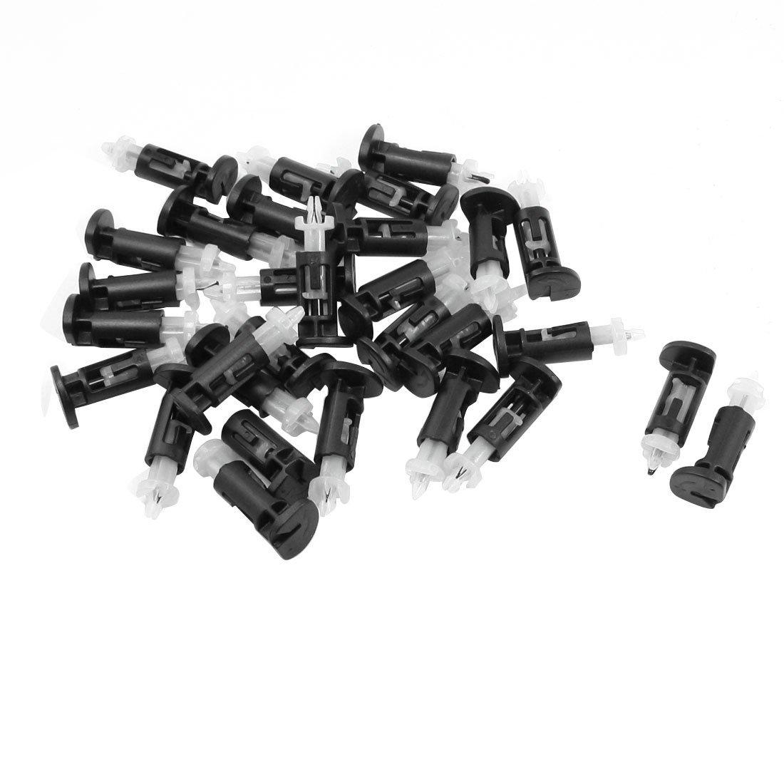 Negro con Blanco Plá stico Clip De Montaje para Intel CPU Cooler 30 Unidades a13060300ux0953