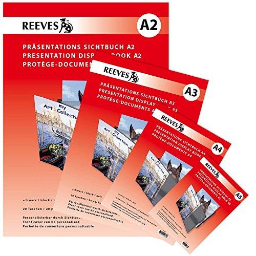 REEVES 107782 Sichtbuch A2 mit 20 klaren Sichthüllen zum Personalisieren von Präsentationen und Büchern Kunststoff Nicht Zutreffend 43,5 x 36 x 2 cm