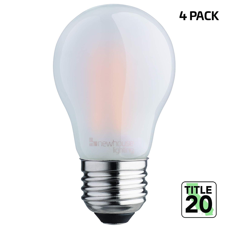 Shatterproof Bulb Warm White 4-Pack Title 20 Compliant Newhouse Lighting NHLB-LED-4A15 380 Lumen A15 LED 90 CRI E26 Base