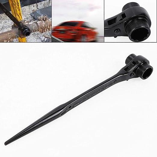 Wanlecy 3//4 x 7//8 Drive Dual Head Ratchet Socket Spud Ratchet Spanner Ratcheting Socket Wrench Tool for Aligning Bolts