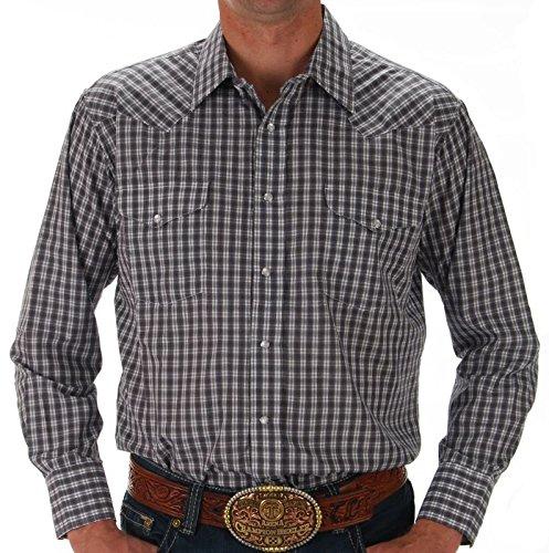 (Panhandle Mens Plaid Snap Shirt L Multi )