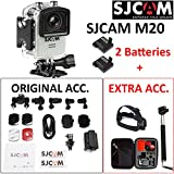 "SJCAM M20 (VALUE PACK) 4K 1080P WiFi 1.5""LCD SONY IMX206 Sensor Gyro Anti-Shake Adjustable Angle 166° Max Waterproof Mini Action Camera(Silver)"