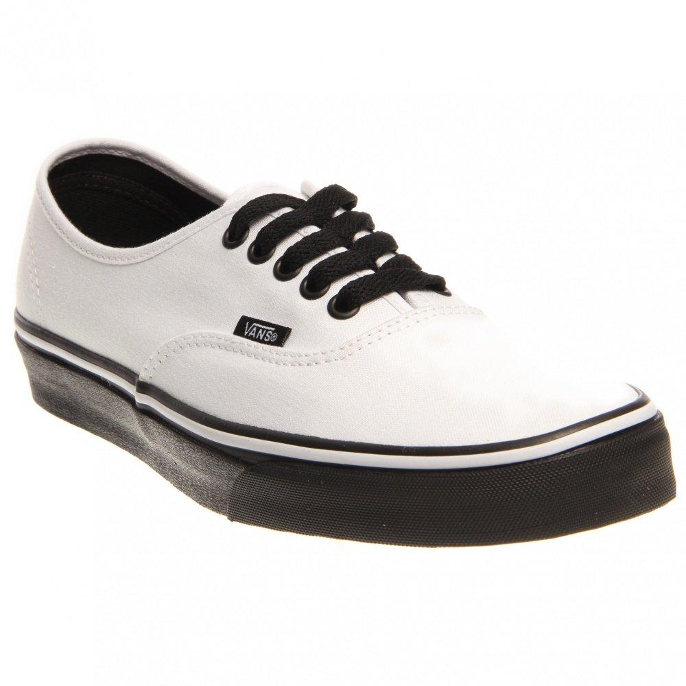 c275052588 Galleon - Vans Unisex Authentic (Black Sole) True White Skate Shoe 11 Men US