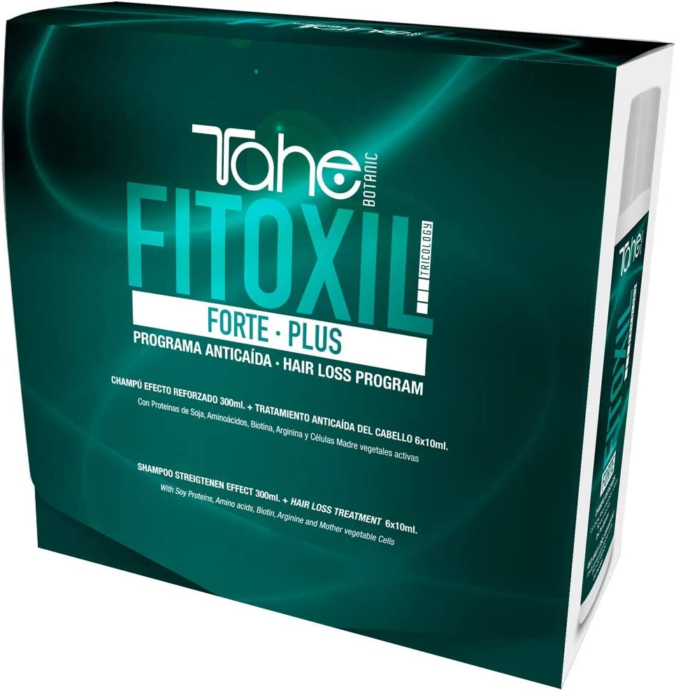 Tahe Fitoxil Pack Forte Plus Programa Anticaída del Pelo para Cabellos Castigados (Champú 300 ml + Tratamiento 6 x 10ml)