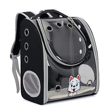 XDYFF Mochila Perro Portador Gatos Capazo de Mascotas Mochila para Mascotas Totalmente Transparente para Llevar a