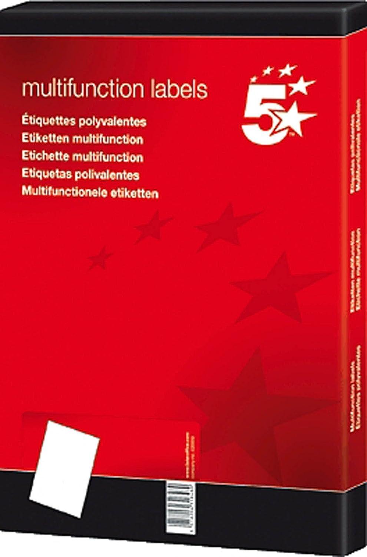 5 Star Office 850424 Etichette adesive multiuso, 70x36 mm (conf. 2400 pezzi)