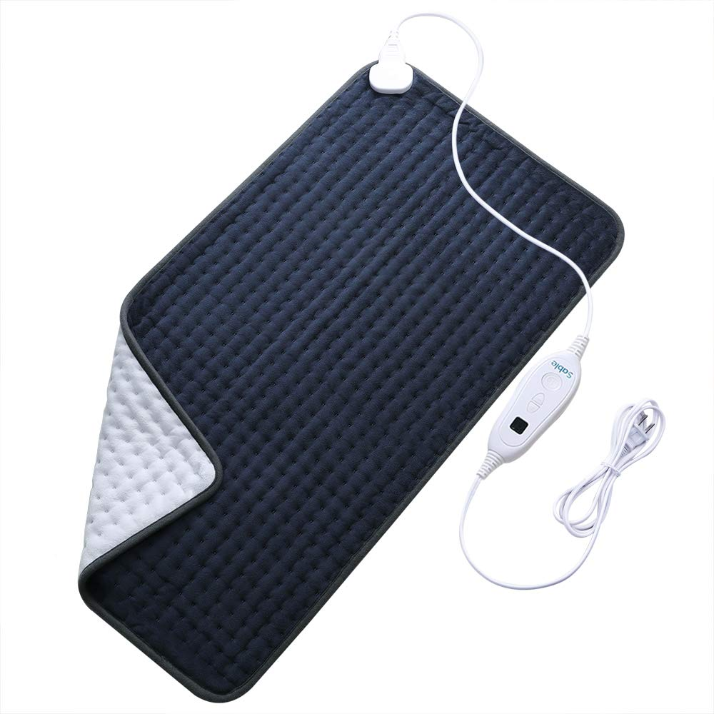 """XXX-Large Heating Pad for Fast Pain Relief, Fda Approved, Electric 6 Heat Setting with Auto Off, Moist Therapeutic Option for Neck Back Shoulder, 33"""" X 17"""""""