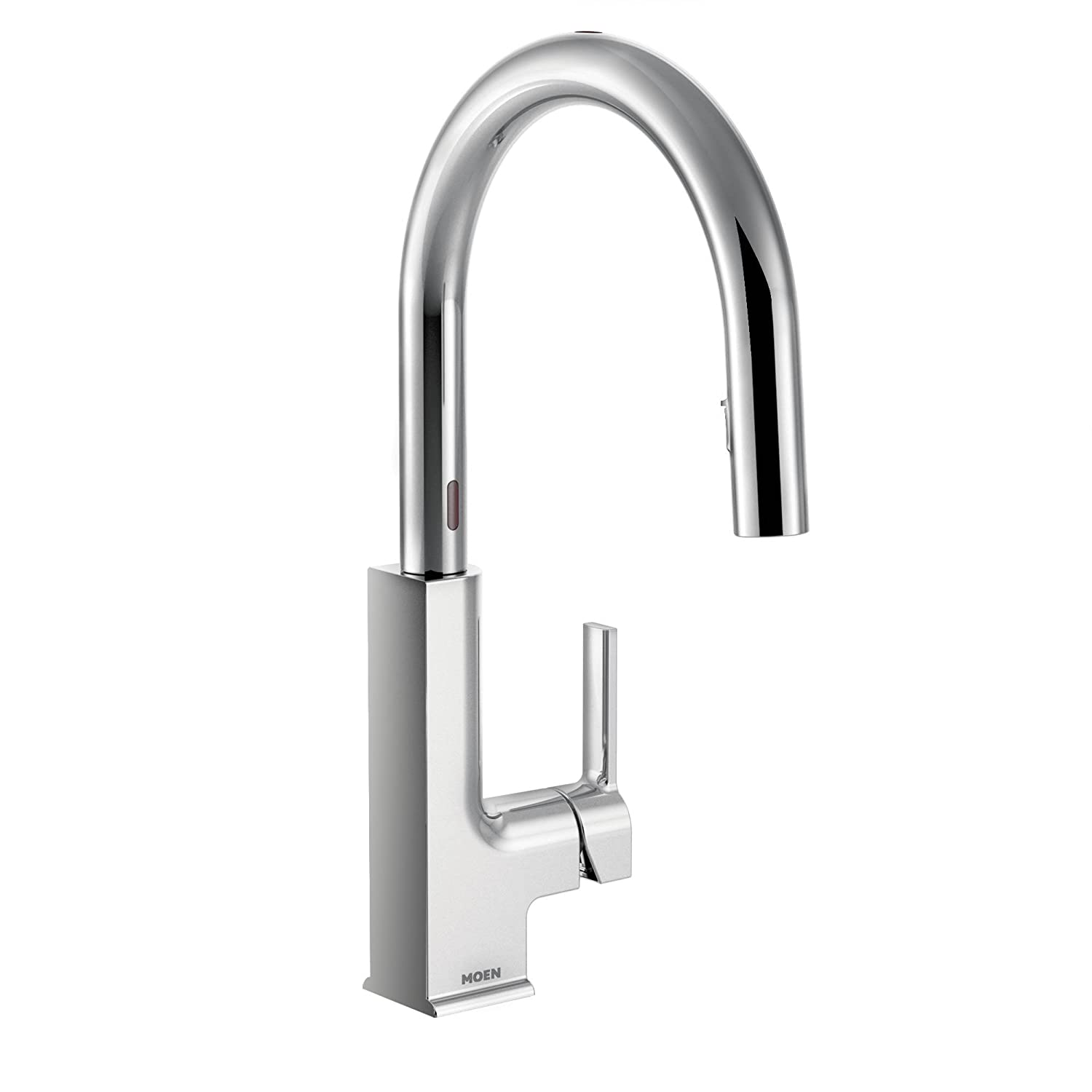 spot pullout detail stainless asp spray voss resist faucets faucet kitchen moen lg