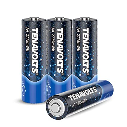 Batteries For Less >> Tenavolts Rechargeable Lithium Li Ion Batteries Aa Rechargeable Batteries Constant Output At 1 5v Quick Charge Less Than 2 Hours 2775 Mwh