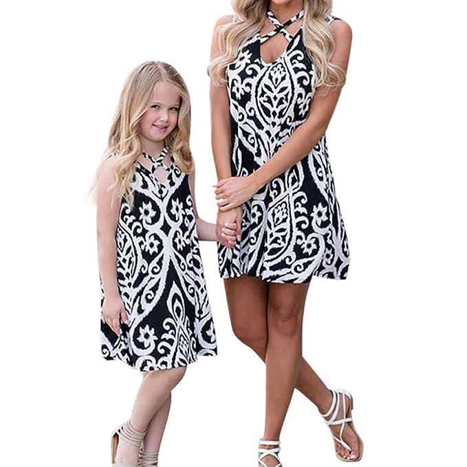 Amazon.com: raptop mamá & Me bebé Kid niñas cuello en V ...