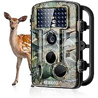 ENKEEO - 12 MP Camera de Chasse 1080P HD, Trail Camera Chasse Résolution , Capteur de Mouvement Infrarouge, 42pcs IR Leds, Vision nocturne, 11 Langue