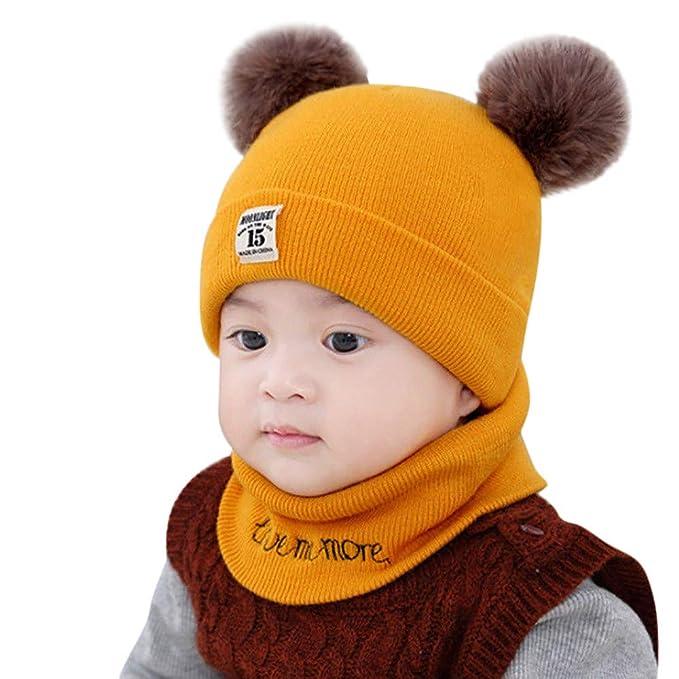 3b8dc184f1d CATSAP Newborn Unisex-Baby Toddler Winter Beanie Warm Hospital Hat Hooded  Scarf Earflap Knitted Ski