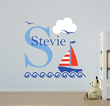 VC Designs Ltd TM Nautical Sailing Boat Name Wall Stickers