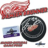 Damien Brunner Signed Puck - DETROIT RED WINGS OFFICIAL w COA #2 - Autographed NHL Pucks