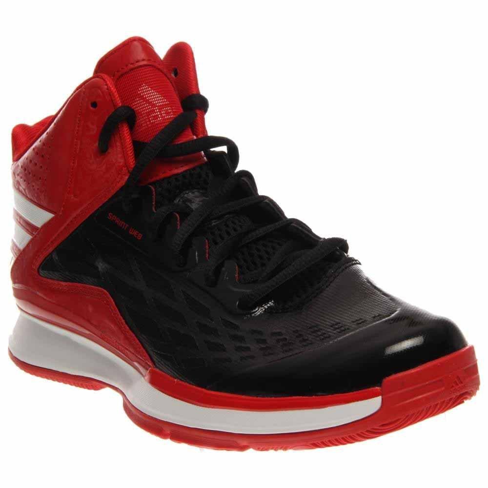 Adidas para hombre de las zapatillas de bañoncesto Transcend 4 blanco-negro negro-blanco-scarlet