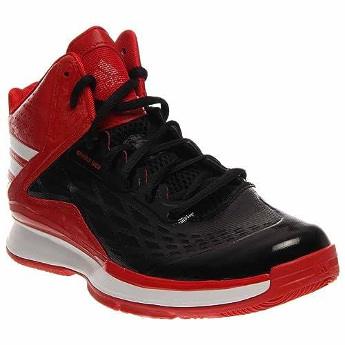 the latest 7c421 c0858 Adidas para hombre de las zapatillas de baloncesto Transcend 8.5 Negro- blanco-escarlata  Amazon.es  Zapatos y complementos