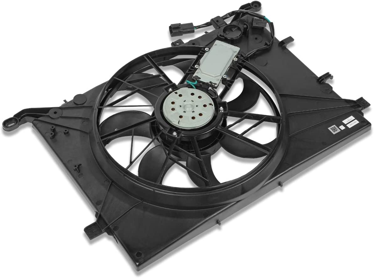 VO3115109 OE Style Radiator Cooling Fan Assembly Replacement for Volvo V70 S60 S80 XC70 2.0L 2.4L 2.5L 2.8L 2.9L 01-04