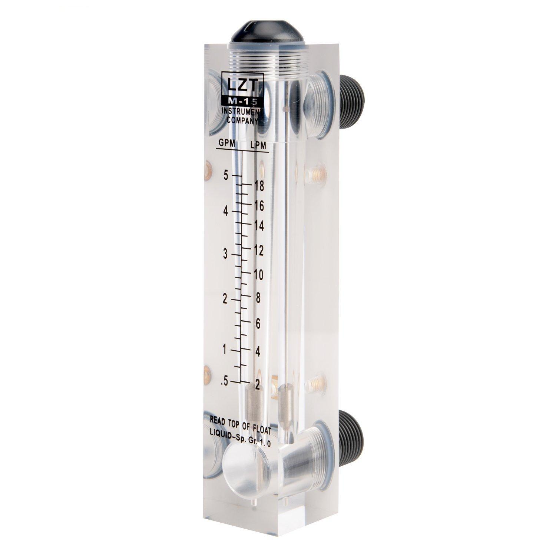 0.5-5GPM 2-18LPM Water Liquid Flow Meter Tool Flowmeter Instrument