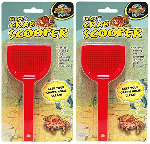 Zoo Med Laboratories Hermit Crab Scoopers, Assorted Colors (2 Pack) ()