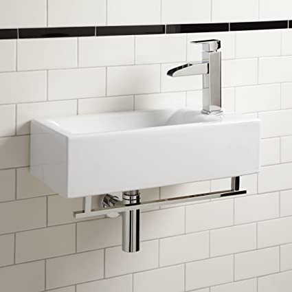 Leiden Wall Mount Sink With Towel Bar Bathroom Sinks Amazon Canada