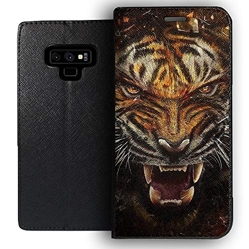 (CasesonDeck Case for Samsung Galaxy Note 8 - Canvas Wallet Case with ID Holder/Card Compartment, Kickstand Function (Fierce Tiger))