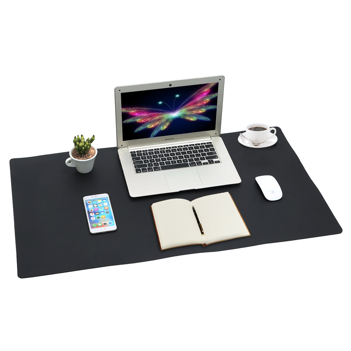 Forniture per pad da ufficio laptop computer tastiera tappetino da scrittura Toneseas tappetino per mouse durevole assorbente da scrivania per giochi 36 x 20 antiscivolo protettore in morbida pelle resistente allacqua casa