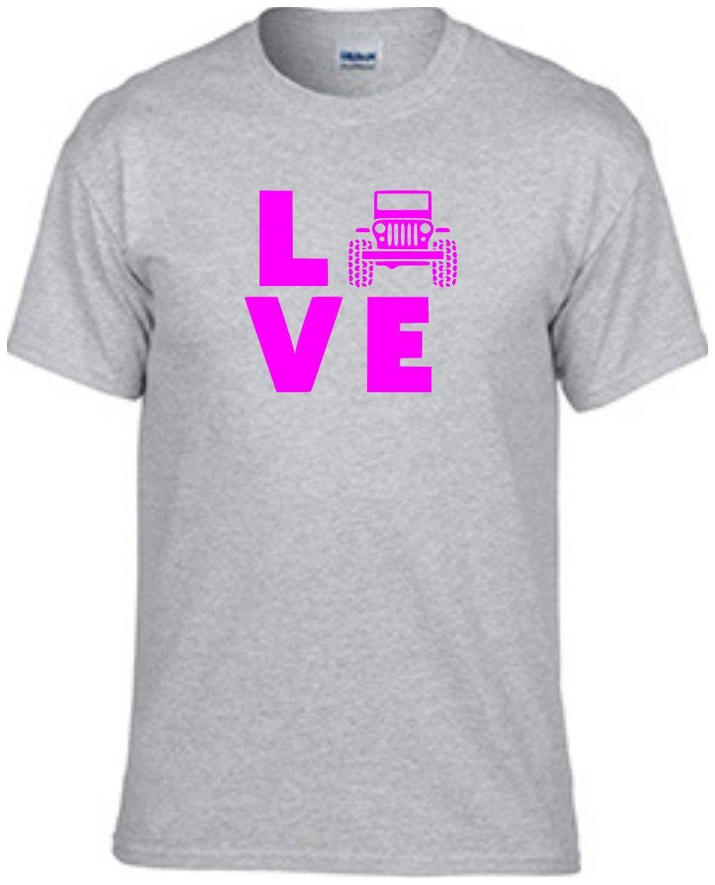 Jeep Love |Jeep | Pink Design | Mens Grey T-Shirts