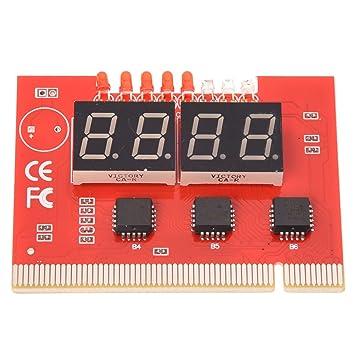 PC PCI tarjeta placa base Diagnóstico Tester - SODIAL (R) PC 4 ...