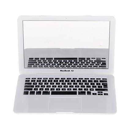 gogogo maquillarse ABS Laptop Ordenador Portatil Forma portátil compacto Espejo