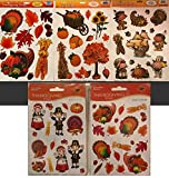 RLP Marketing LLC Fall Window Clings and Fall Thanksgiving Stickers Set Great Combination of Decorations for Fall and Thanksgiving for Home School or Work - Last Ones!!!