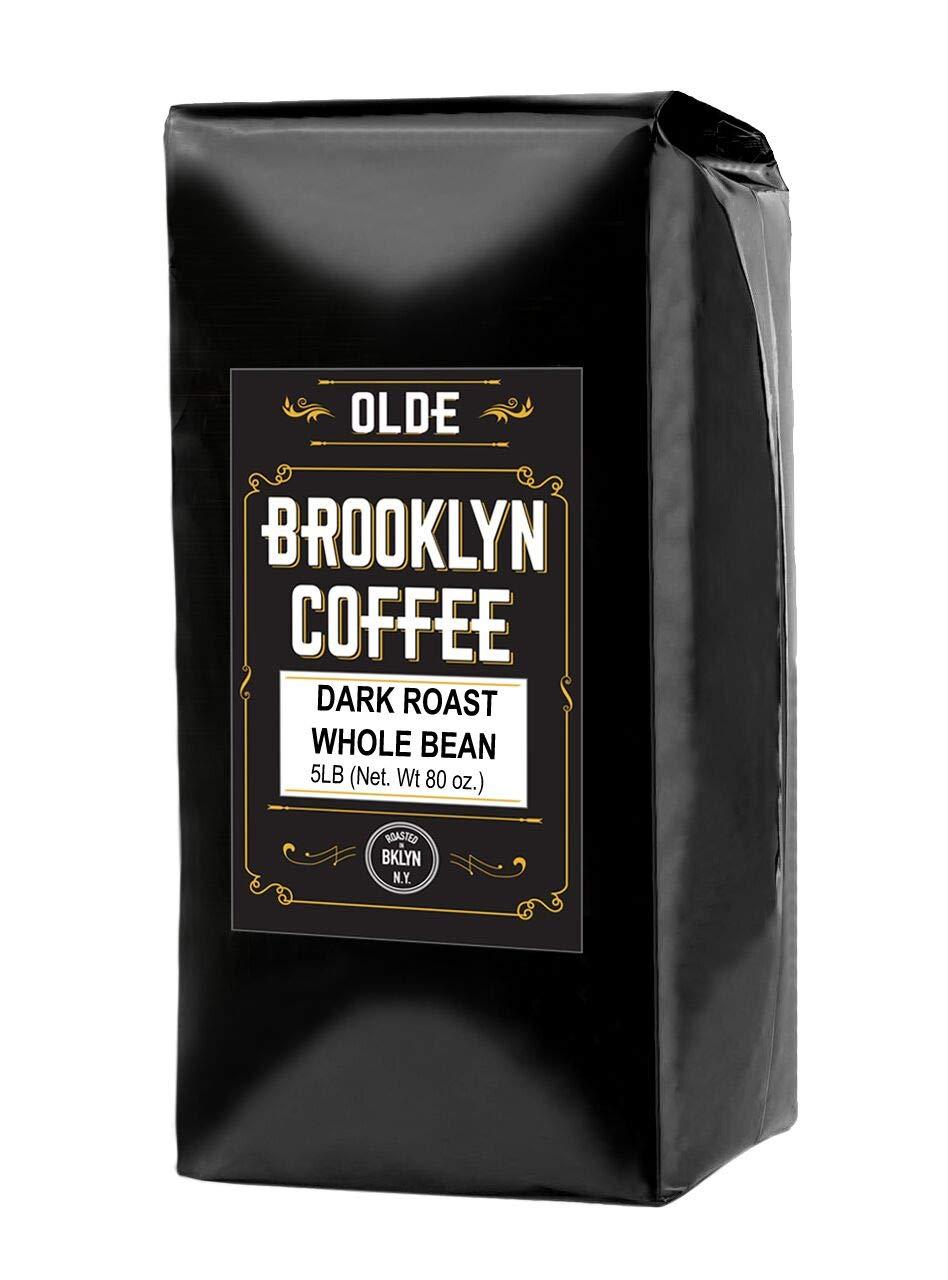 DARK ROAST Whole Bean Coffee 5 LB. By Olde Brooklyn Coffee