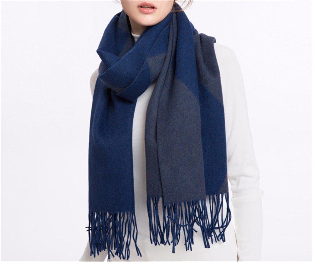 DIDIDD Bufanda-oficina de aire acondicionado chales de lana señoras de invierno cálidas bufandas,C