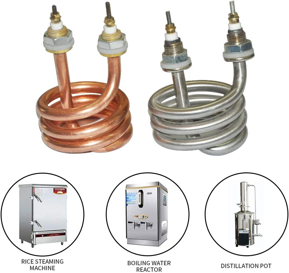 220V-380V 2500W Water Distiller spiral Electric Water Heater Element (220V Stainless steel)