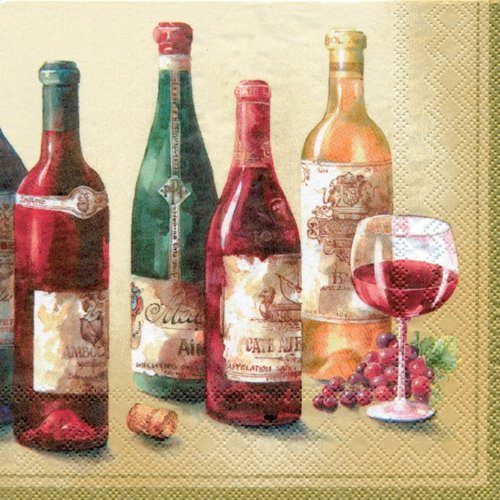Ideal Home Range 20-Count 3-Ply Paper Lunch Napkins, Wine Cellar