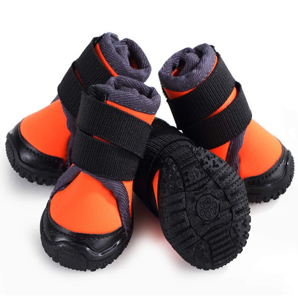 orange 60 orange 60 Red orange Small Medium and Large Dogs Outdoor Sports Mountaineering Anti-Skid Dog shoes