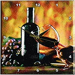 3dRose LLC Glass of Wine in Napa 10 by 10-Inch Wall Clock