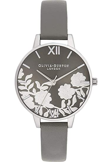 Olivia Burton Reloj de Pulsera analógico Cuarzo One Size, Gris, Gris
