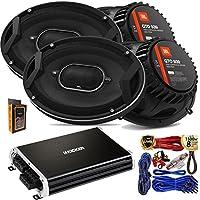"""(4) JBL GTO939 Premium 6x9"""" Co-Axial Speaker + Kicker 250 Watt Full Range 4 Channel Car Audio Amplifier + Amp Kit"""