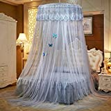 Lustar Court Style Mosquito Net Bed Canopy Children Fly Insect Protection Indoor Decorative Height 270cm Top Diameter 1.2m 1-2m Bed,Grey