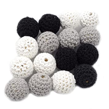 Amazon.com: Baby Love Home Crochet abalorio de madera ...