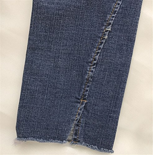 JOTHIN 2017 Donna Inverno Ispessimento Strette Pantaloni Autunno Bordi strappati Blu Calzoni Tinta Uinta Eleganti Elasticizzati Jeans.