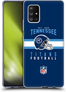 Head Case Designs Officially Licensed NFL Helmet Typography 2018/19 Tennessee Titans Soft Gel Case Compatible with Samsung Galaxy A71 5G (2020)