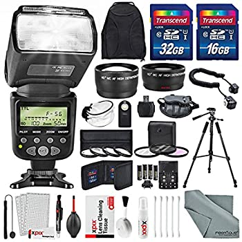 Image of Accessory Kits 52MM 2.2X Telephoto and HD 0.43X Wide Angle w/SLR Auto-Focus Power Zoom Flash for Nikon D3200, D3300, D5000, D5100, D5200, D5300, D5500, D7000, D7100 Along with Xpix Cleaning Accessories
