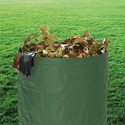 Paquete de 2 bolsas grandes para desechos de jardín - 272L y 125L Saco redondo reutilizable Bolsa de almacenamiento Bolso cuadrado para desechos de jardín con 1 PC Guantes de jardinería: Amazon.es: Jardín