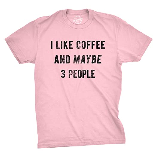 3582a002b Image Unavailable. Image not available for. Color: Crazy Dog T-Shirts Mens  I Like Coffee and Maybe 3 People Tshirt Funny Sarcastic